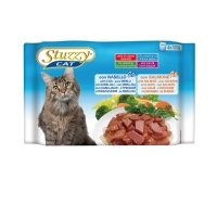 Stuzzy Cat POUCH MULTIPACK 4 X 100 GR Kabeljauw en Zalm