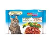 Stuzzy Cat Pouch Multipack 4 x 100 gram Kip & Kalkoen